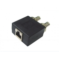 Coaxial Balun Box - Panel Mount Double BNC Female to RJ45