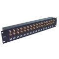 "Coaxial Balun Panel 19"" 32 Port 1.6/5.6 Female to RJ45 (Front Access)"