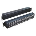 "Coaxial Balun Panel 19"" 32 Port BNC Female (Back) to RJ45 (Front)"