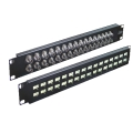 "Coaxial Balun Panel 19"" 48 Port BNC Female (Front) to Wire Wrap (Back)"