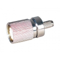 Coaxial Connector 1.6/5.6 Straight Male Crimp