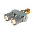 Coaxial Connector 1.6/5.6 Male-Male-Female Y Link