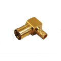 Coaxial Connector SMB Right Angle Male Crimp