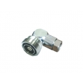"RF Right Angle Connector 7/16 Female 1/2"" S"