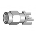 SMA Male End Launch Receptacle-Round Contact