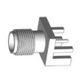 SMA Female End Launch Receptacle-Round Contact