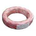 Telephone Jumpering Wire (White - Red) Size : 2 x 0.5 sq.mm.
