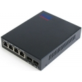 2 Fiber 4 FE Ports Ethernet Media Converter (SFP type)