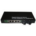 2 Fiber 4 UTP Fiber Ethernet Switch