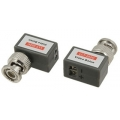 CAT5 Camera CCTV BNC Video Balun Transceiver Cable Coax Right Angle