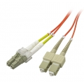 Multimode Duplex OM1 62.5/125 Fiber Patch Cable LC-SC 15 Meter
