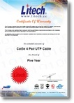 Certificate Of Warranty - Extended 5 year UTP Cable